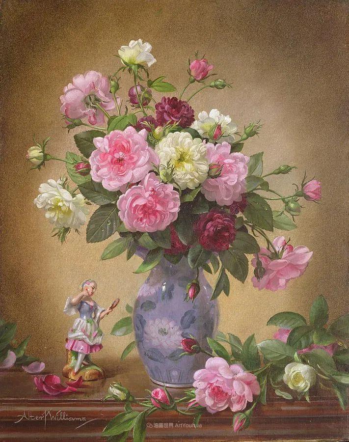 他放弃了古典风格,以更自然、个性化的风格绘画现代花卉!插图147