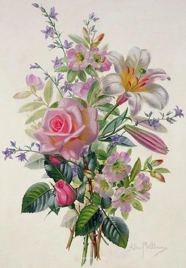 他放弃了古典风格,以更自然、个性化的风格绘画现代花卉!插图149