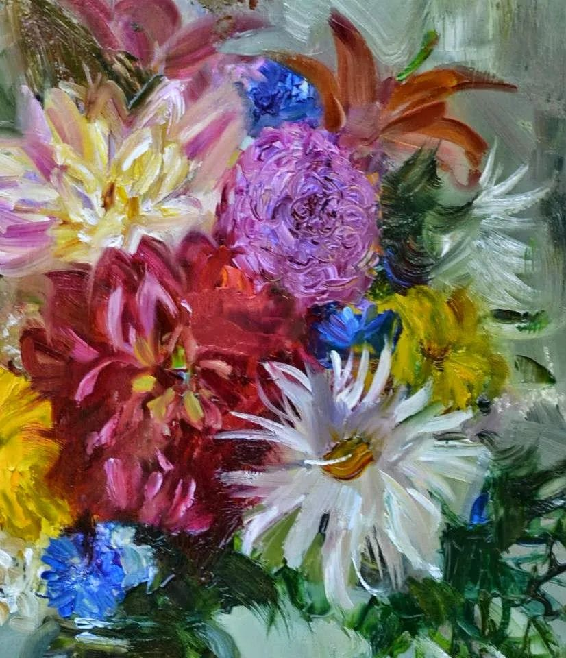 花卉与人物,俄罗斯女画家安娜·玛丽诺娃插图11