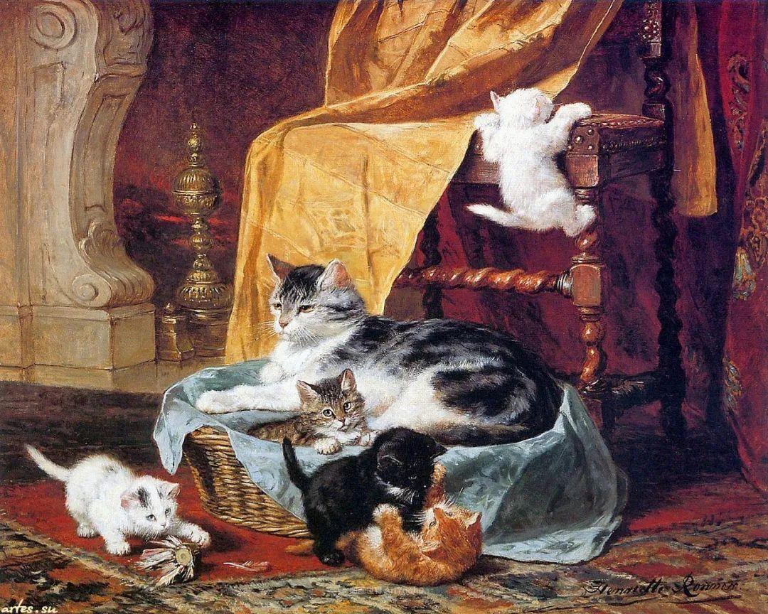 在很久以前,她画了好多充满母爱的猫咪!插图2