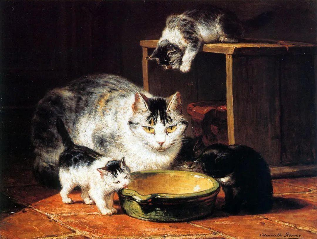 在很久以前,她画了好多充满母爱的猫咪!插图14