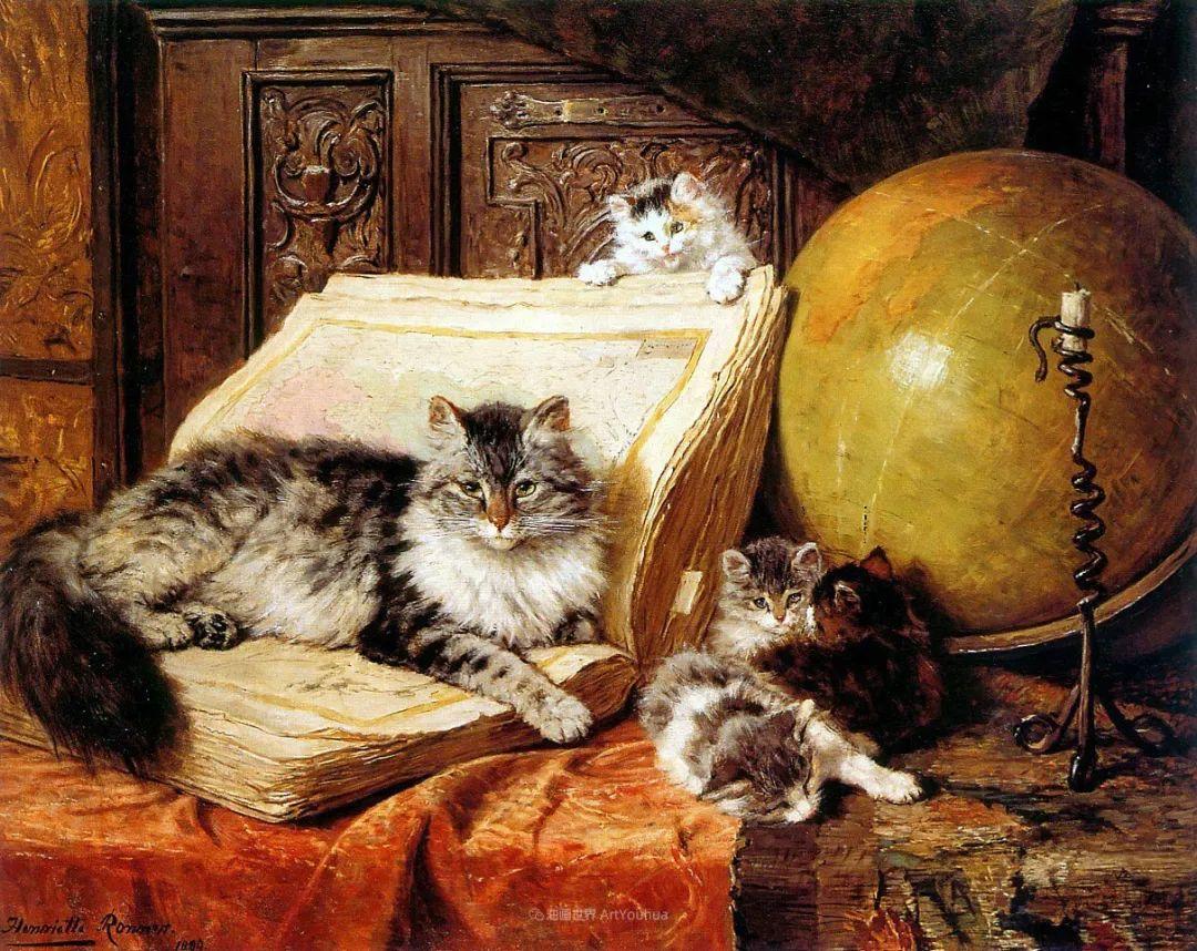 在很久以前,她画了好多充满母爱的猫咪!插图24