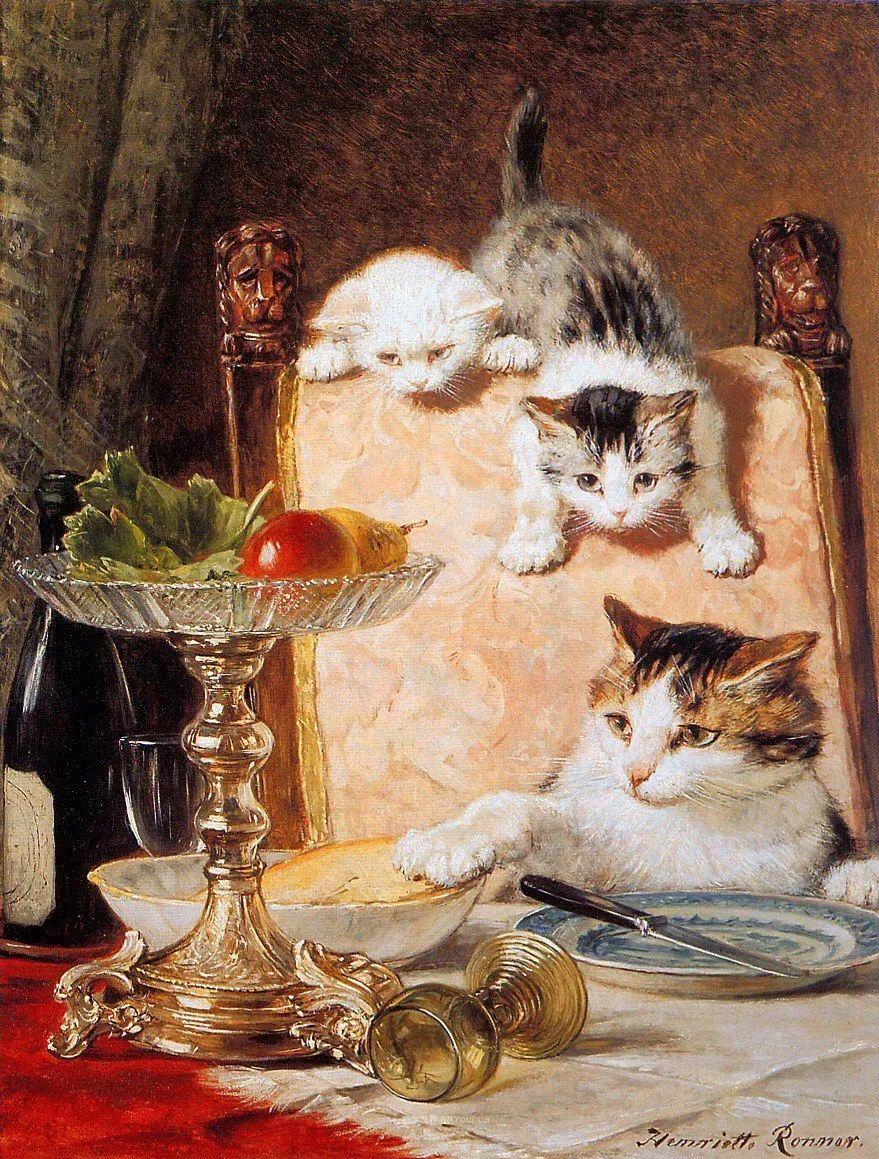 在很久以前,她画了好多充满母爱的猫咪!插图30