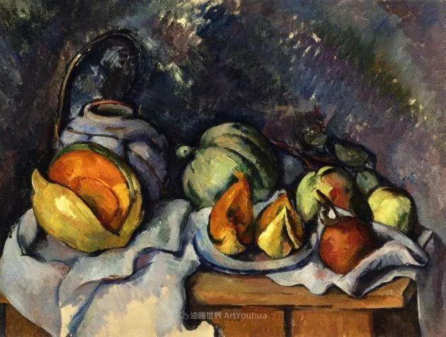 现代绘画之父塞尚,静物作品精选99幅插图67