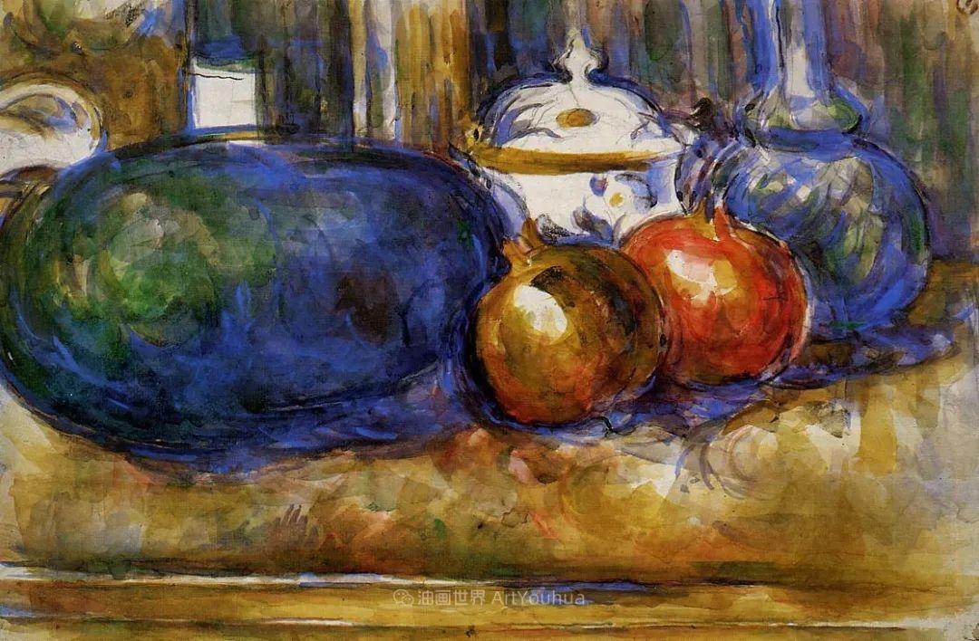 现代绘画之父塞尚,静物作品精选99幅插图135