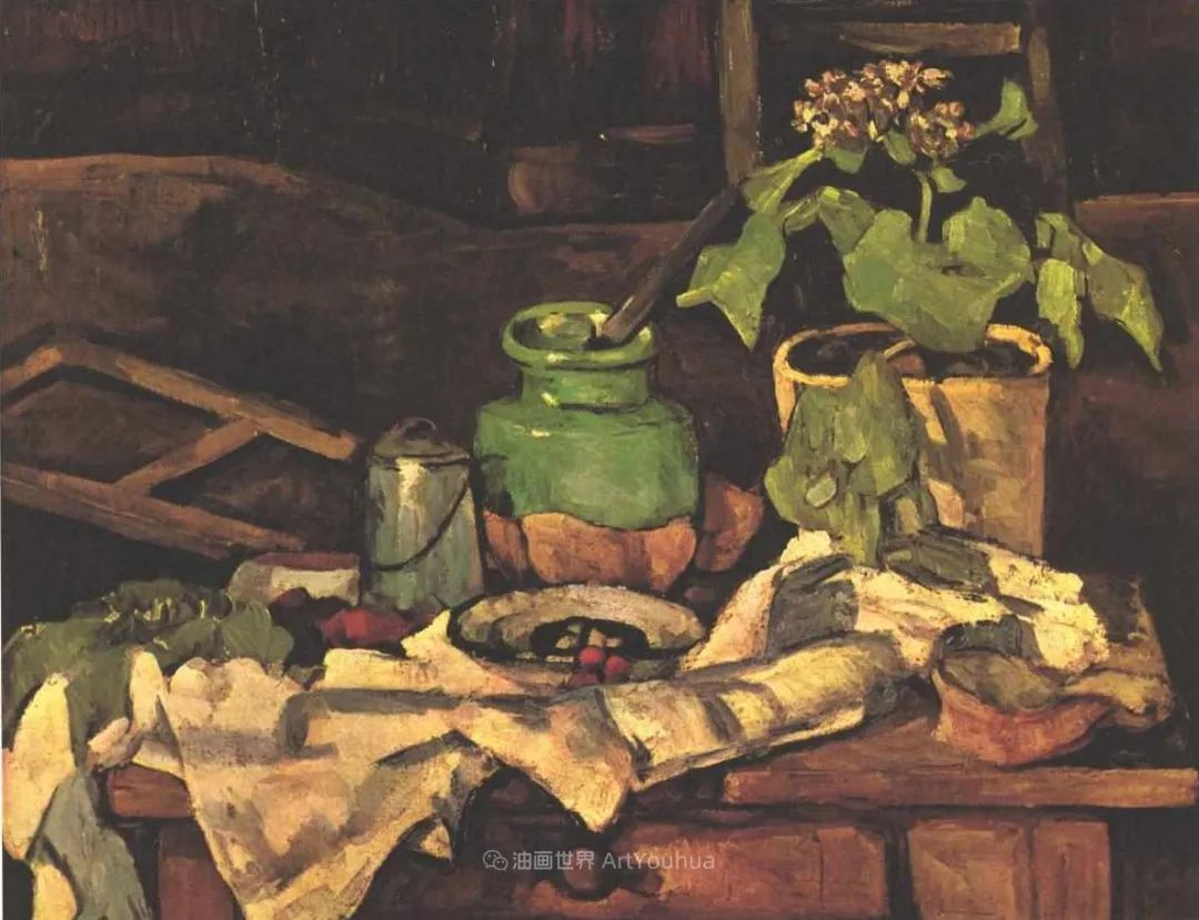 现代绘画之父塞尚,静物作品精选99幅插图137