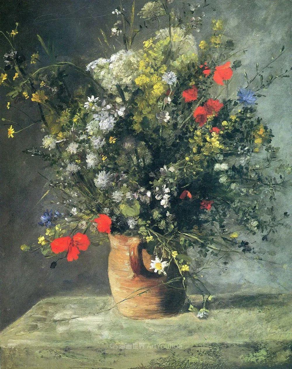 印象派大师雷诺阿,花卉作品精选插图15