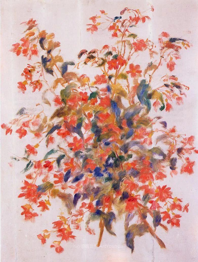 印象派大师雷诺阿,花卉作品精选插图21