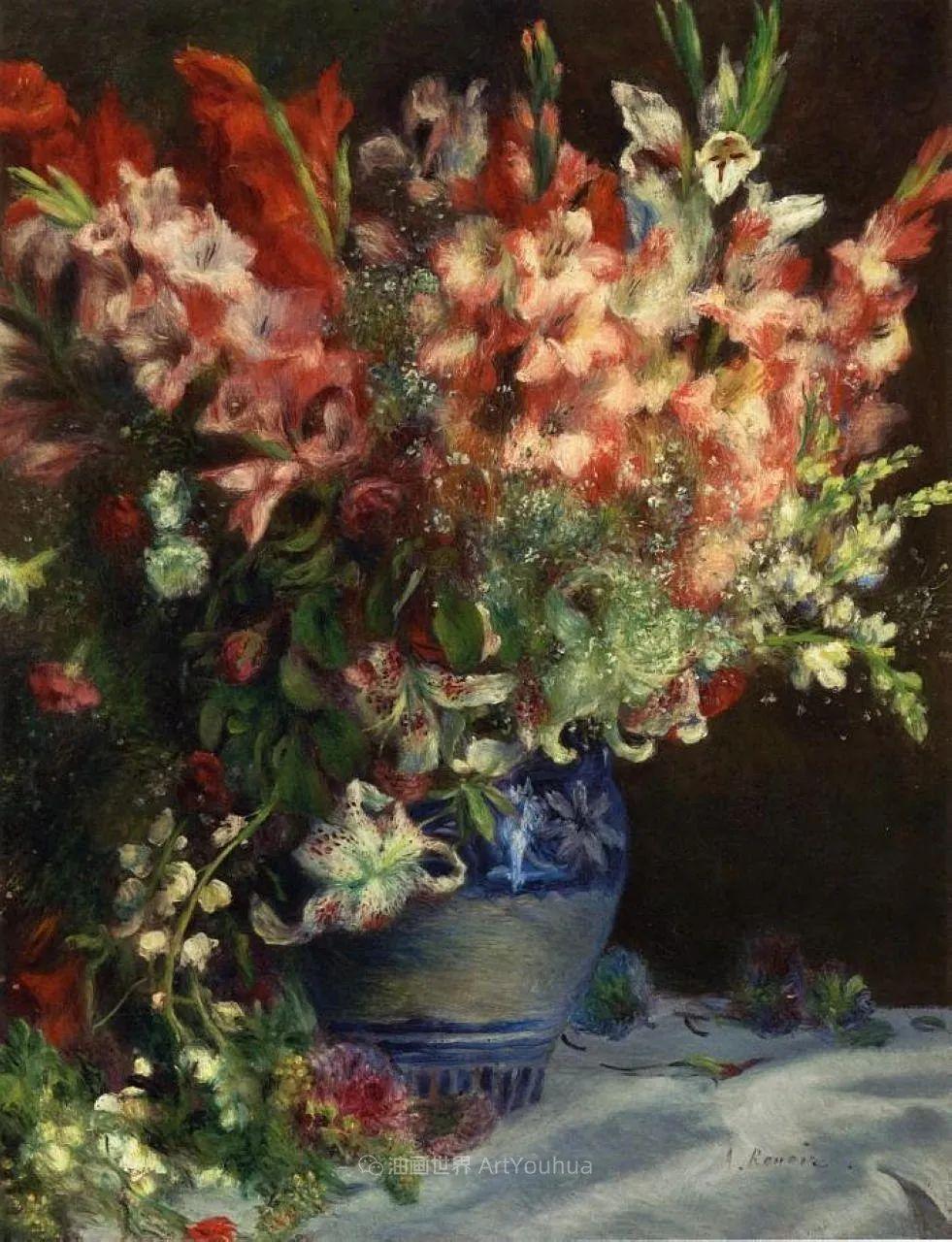 印象派大师雷诺阿,花卉作品精选插图83