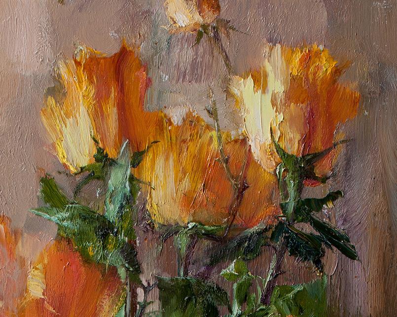 厚重油画感十足的花卉,真不敢相信出自女生之手插图1