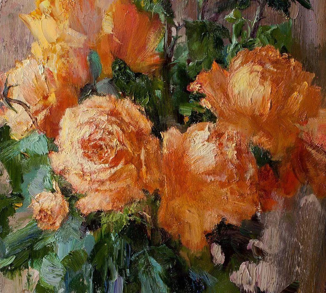 厚重油画感十足的花卉,真不敢相信出自女生之手插图3