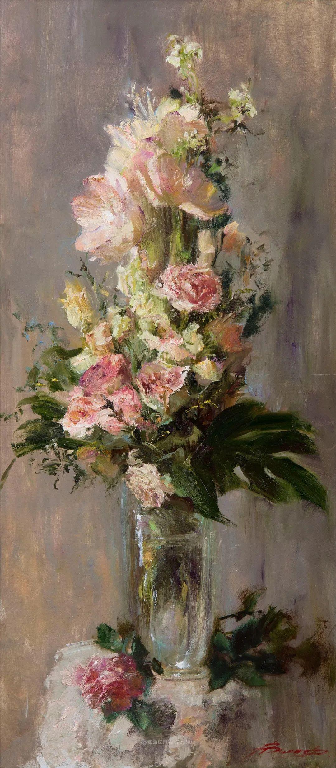 厚重油画感十足的花卉,真不敢相信出自女生之手插图13