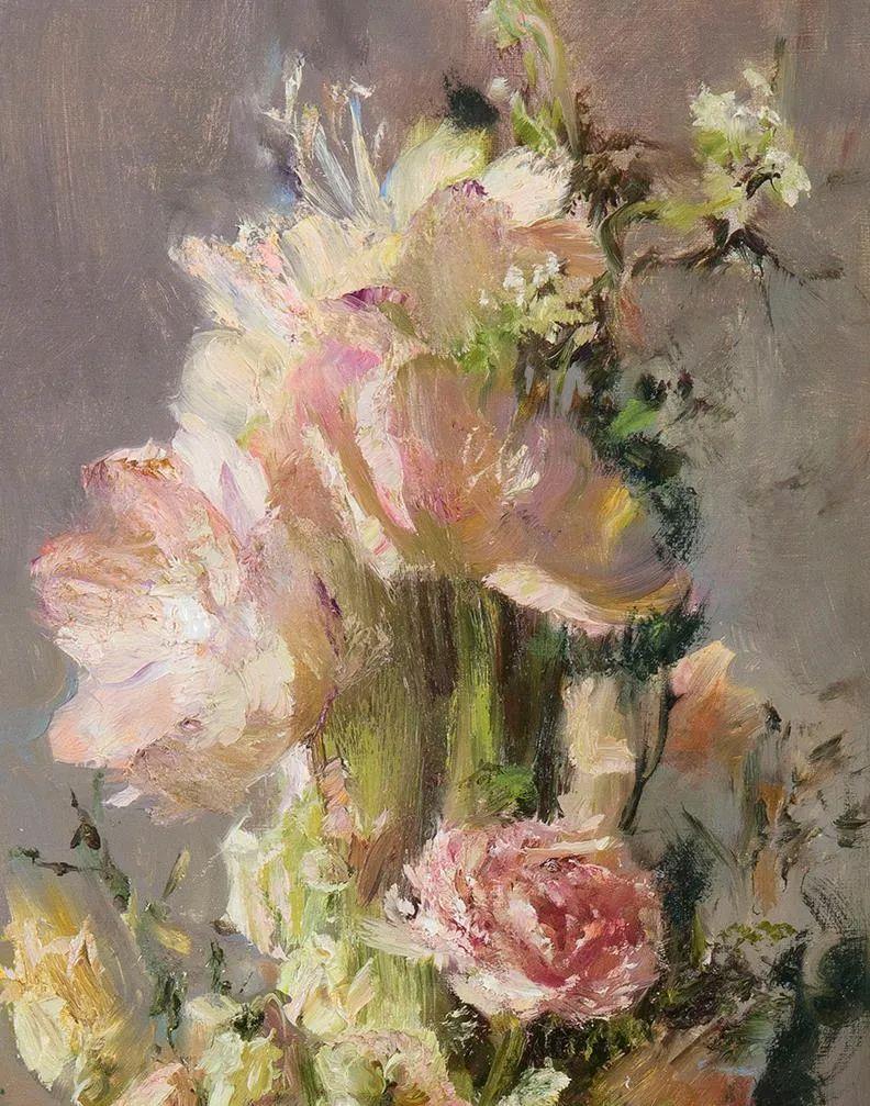 厚重油画感十足的花卉,真不敢相信出自女生之手插图15