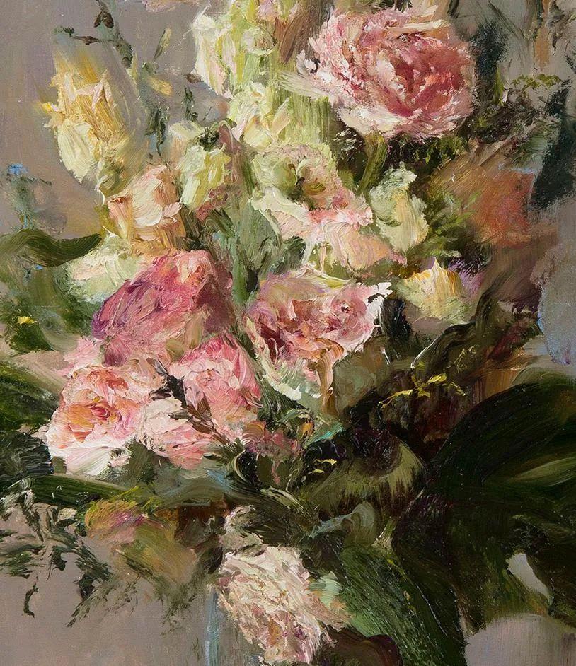 厚重油画感十足的花卉,真不敢相信出自女生之手插图17