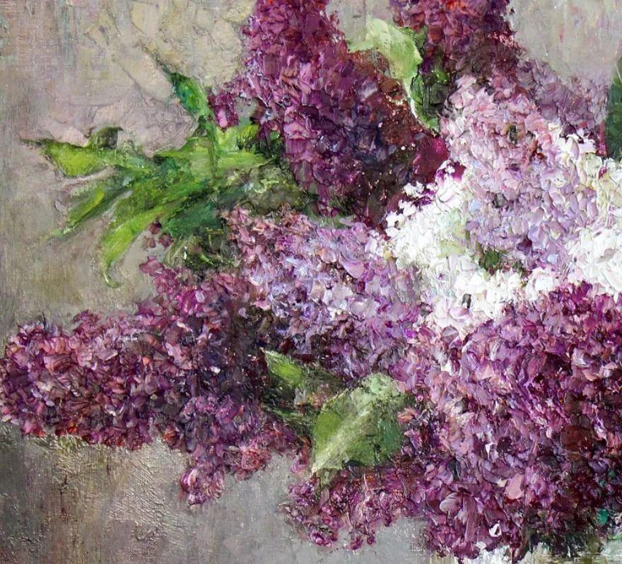 厚重油画感十足的花卉,真不敢相信出自女生之手插图23