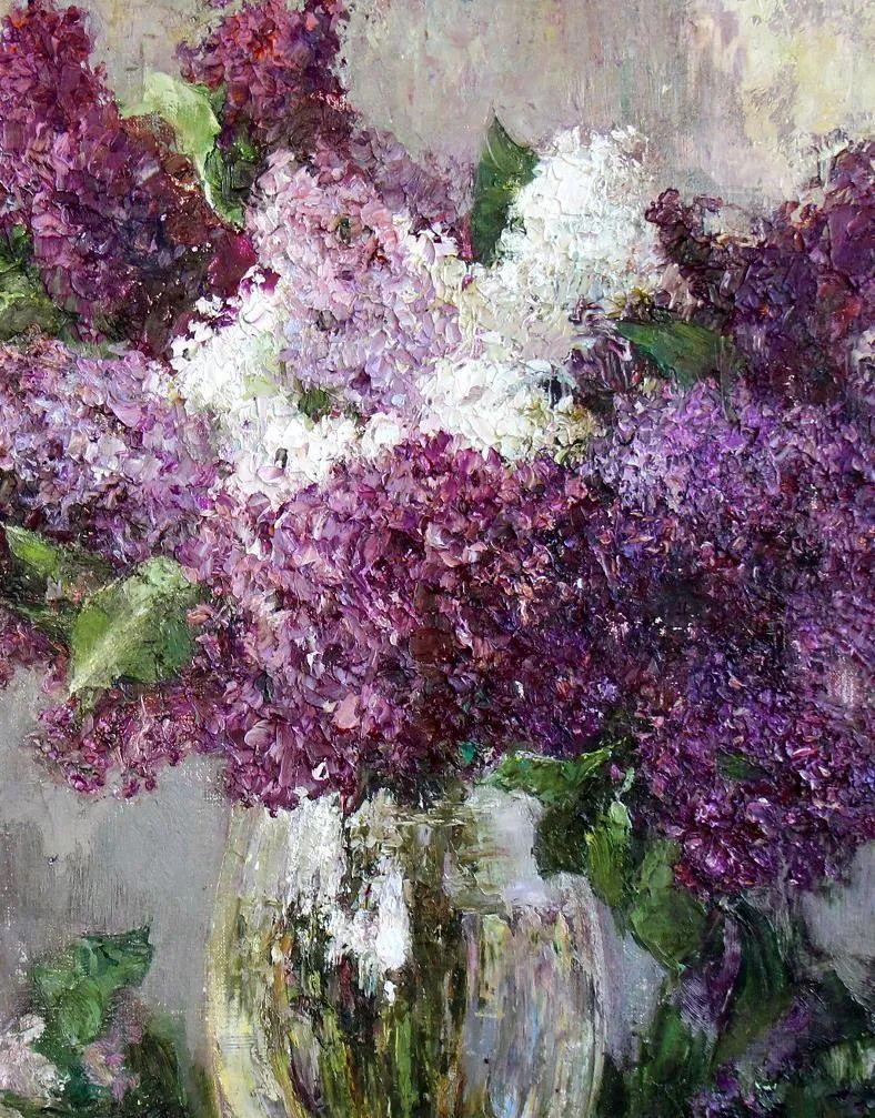 厚重油画感十足的花卉,真不敢相信出自女生之手插图25