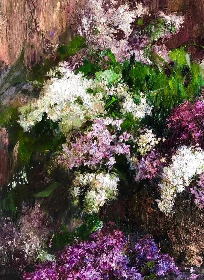 厚重油画感十足的花卉,真不敢相信出自女生之手插图31