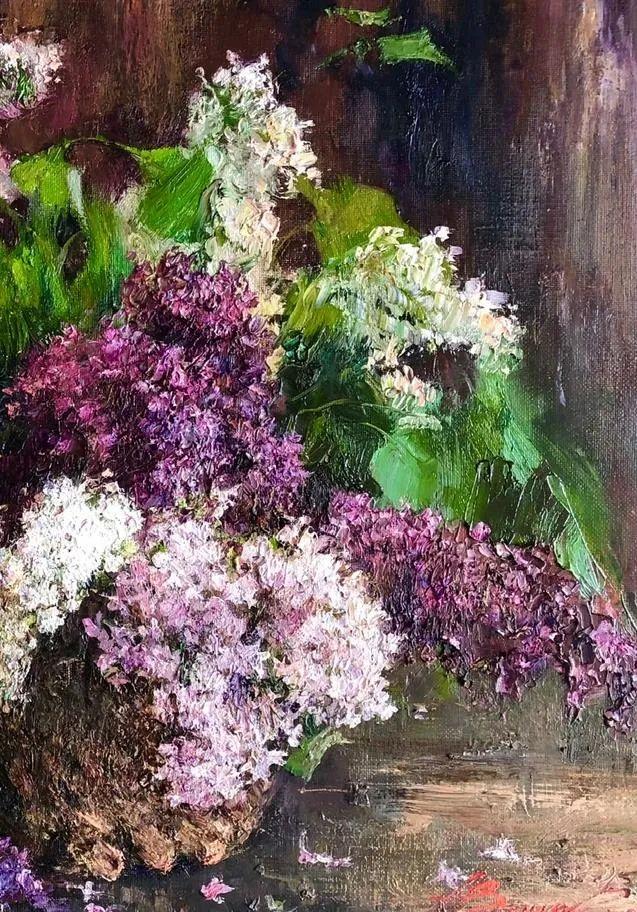 厚重油画感十足的花卉,真不敢相信出自女生之手插图33