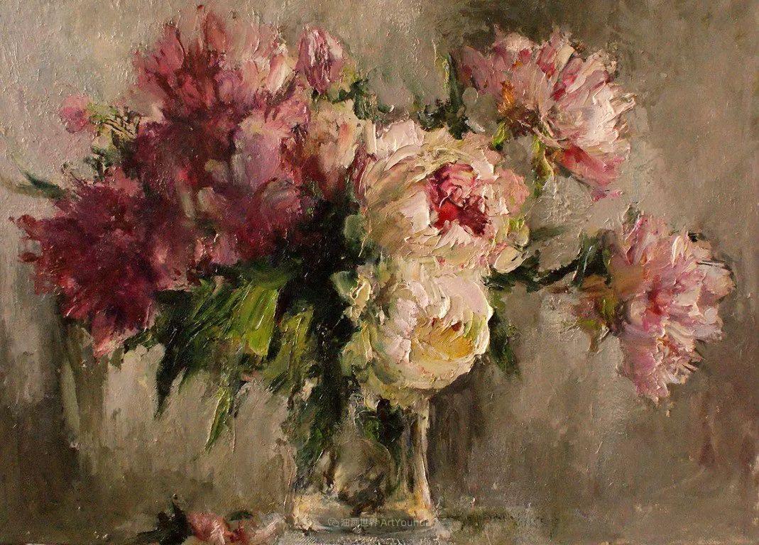 厚重油画感十足的花卉,真不敢相信出自女生之手插图43