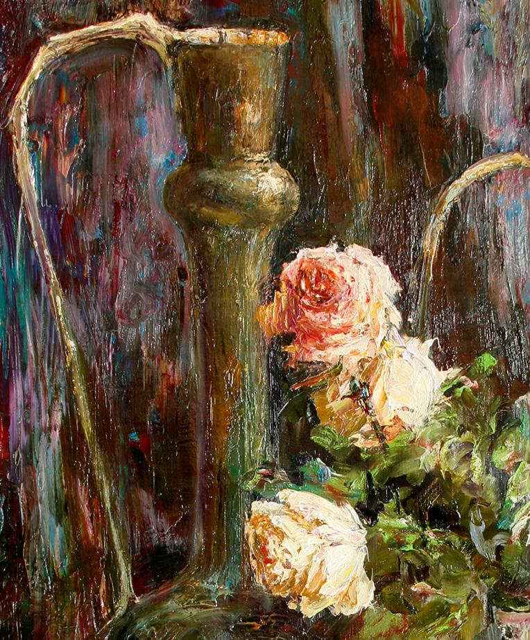 厚重油画感十足的花卉,真不敢相信出自女生之手插图61