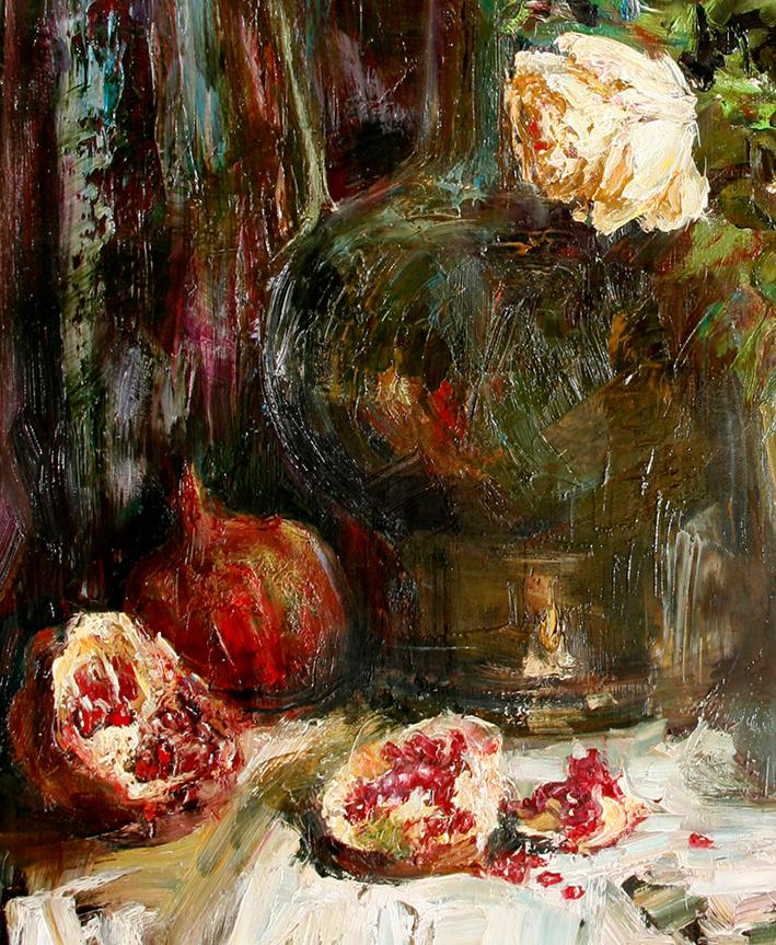 厚重油画感十足的花卉,真不敢相信出自女生之手插图65
