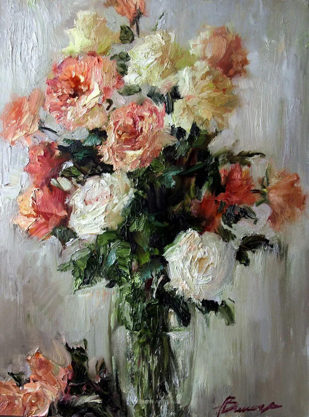 厚重油画感十足的花卉,真不敢相信出自女生之手插图69