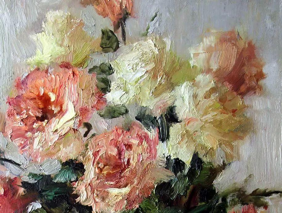 厚重油画感十足的花卉,真不敢相信出自女生之手插图71