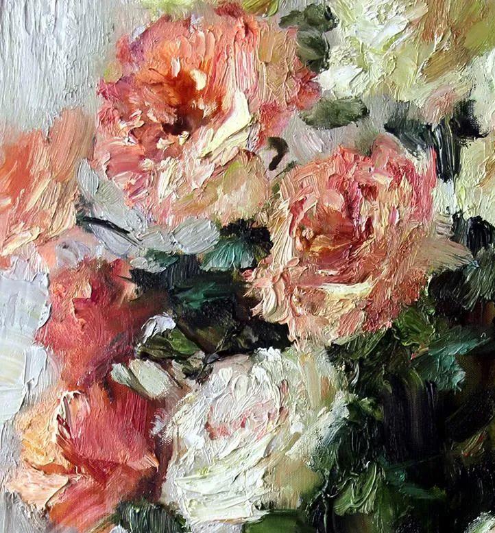 厚重油画感十足的花卉,真不敢相信出自女生之手插图73
