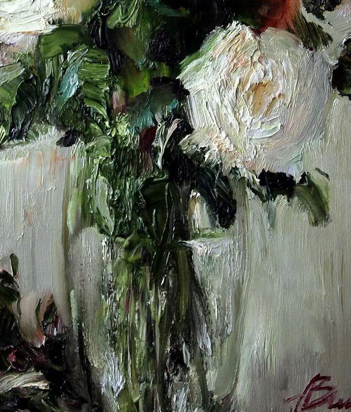 厚重油画感十足的花卉,真不敢相信出自女生之手插图75
