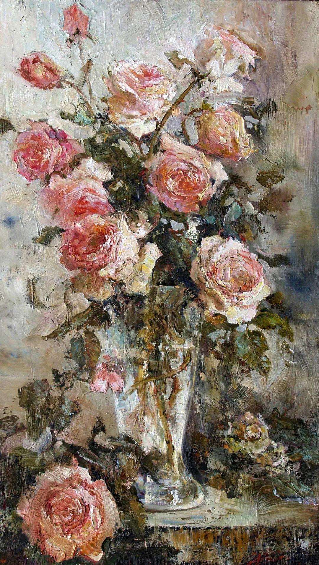 厚重油画感十足的花卉,真不敢相信出自女生之手插图77