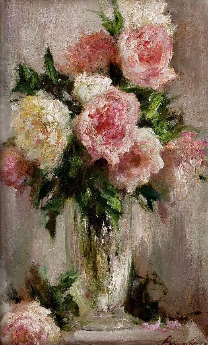 厚重油画感十足的花卉,真不敢相信出自女生之手插图95