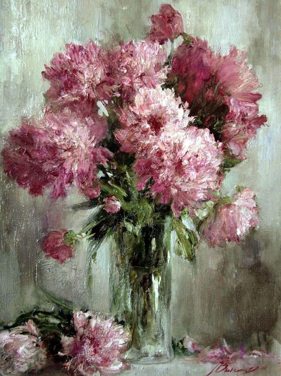 厚重油画感十足的花卉,真不敢相信出自女生之手插图105