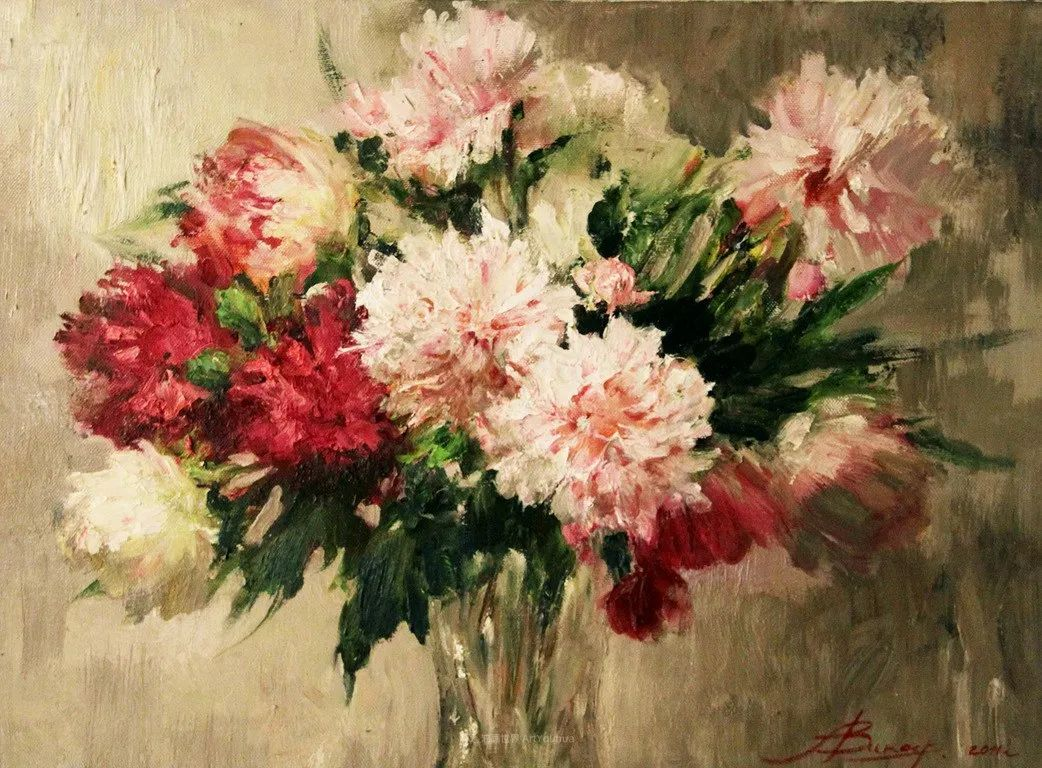 厚重油画感十足的花卉,真不敢相信出自女生之手插图111