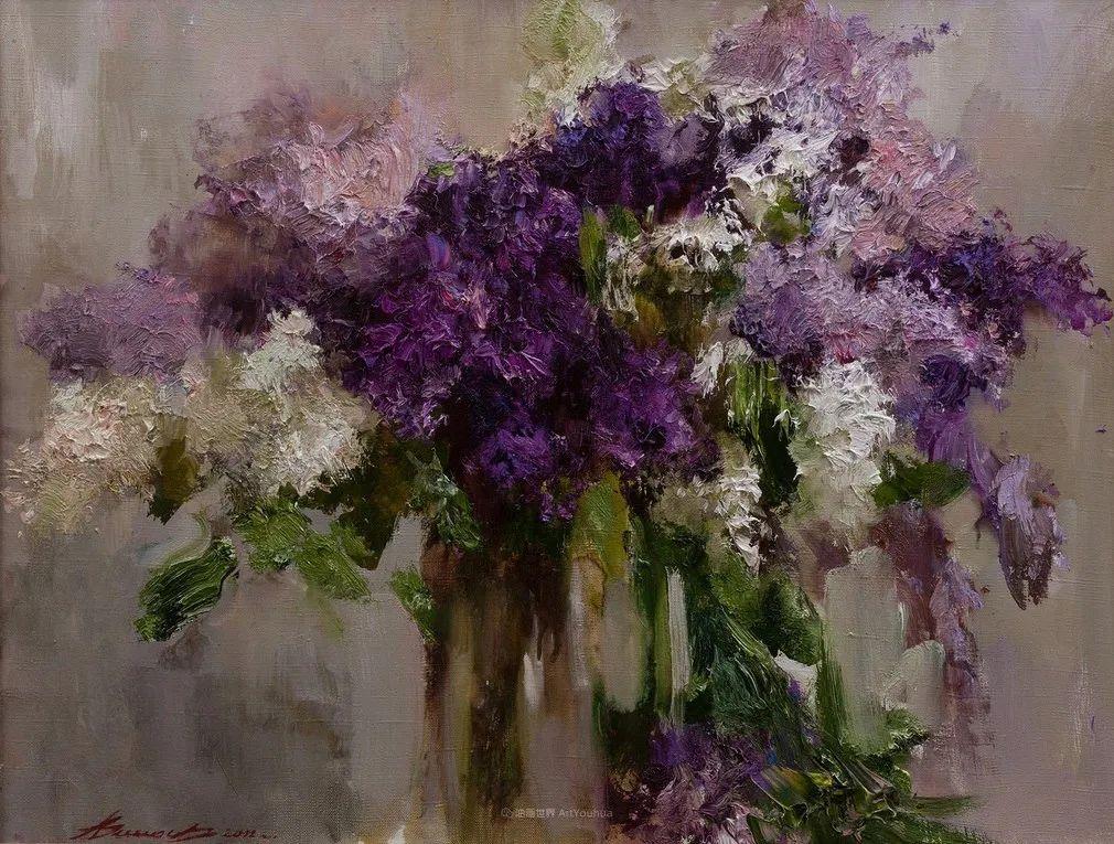 厚重油画感十足的花卉,真不敢相信出自女生之手插图113