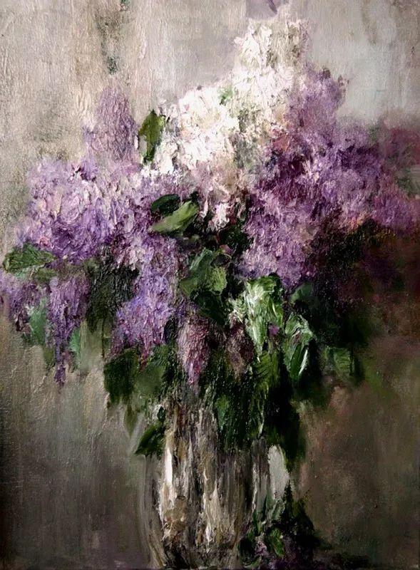 厚重油画感十足的花卉,真不敢相信出自女生之手插图115