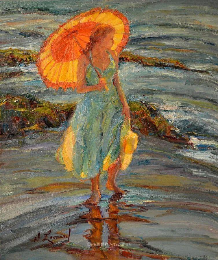 自学成才的她,画里充满了色彩、光和大大的笔触!插图1