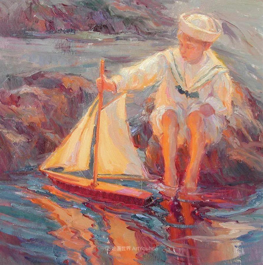 自学成才的她,画里充满了色彩、光和大大的笔触!插图49