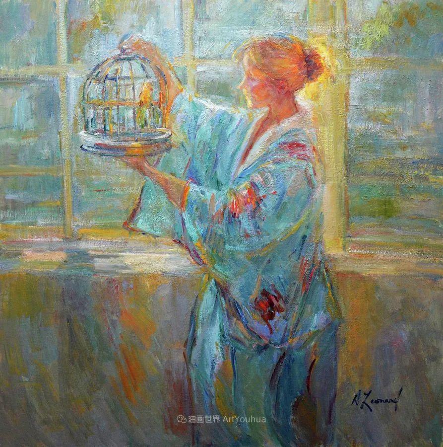 自学成才的她,画里充满了色彩、光和大大的笔触!插图67