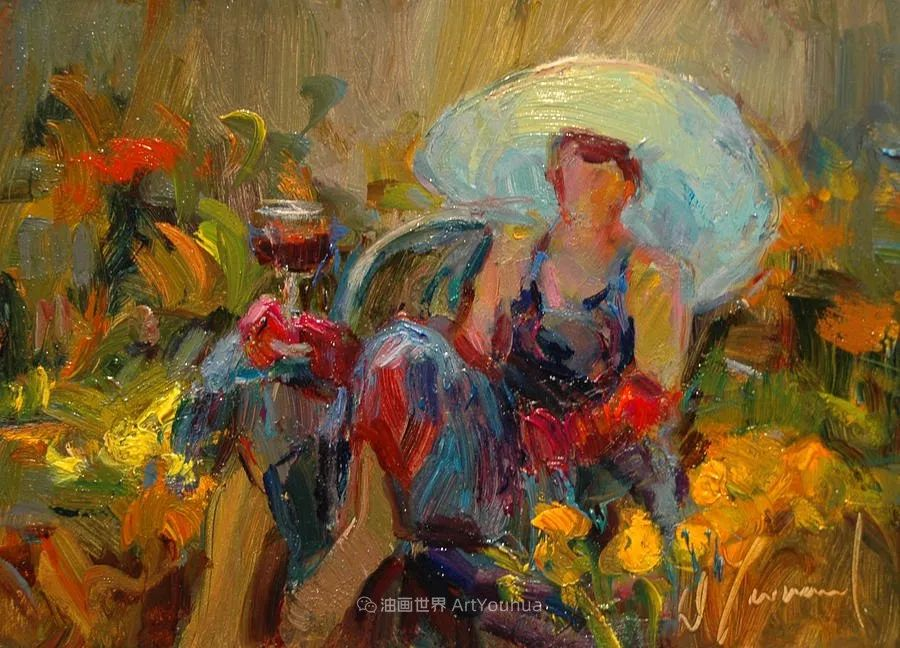 自学成才的她,画里充满了色彩、光和大大的笔触!插图89