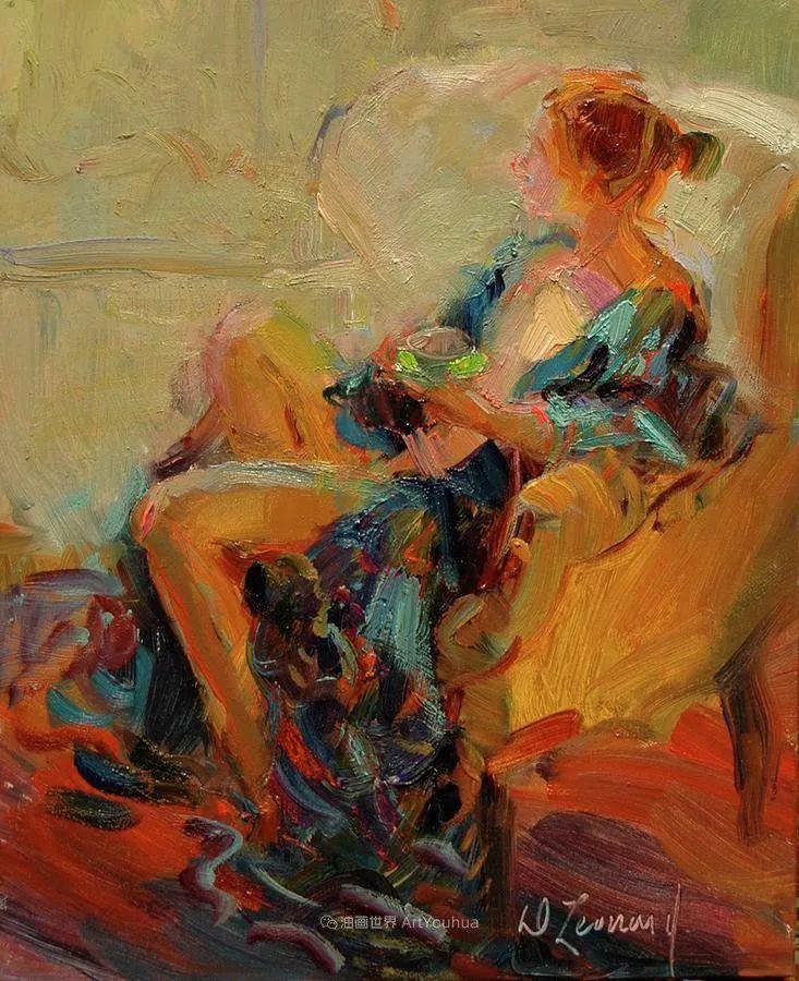 自学成才的她,画里充满了色彩、光和大大的笔触!插图121