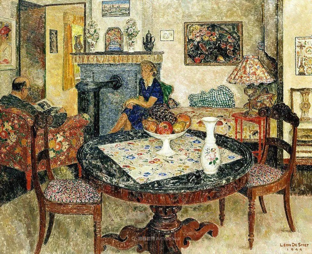 比利时画家 Léon de Smet  莱昂·德·史密特  作品欣赏插图57