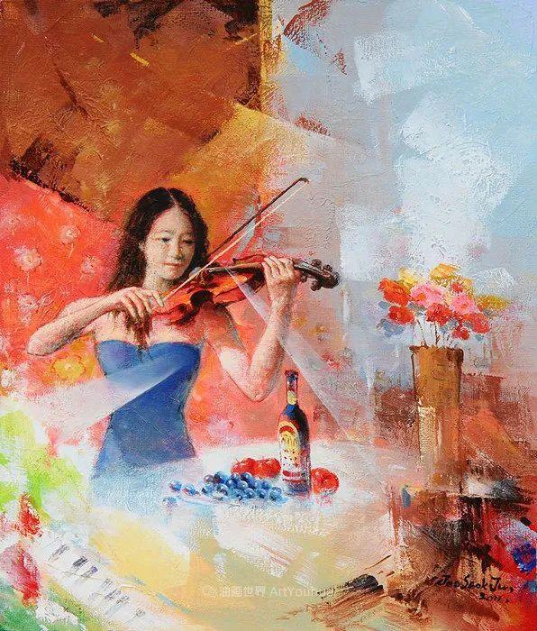韩国画家 朱世柱 作品: 非常出色,温暖、音乐和神秘!插图1