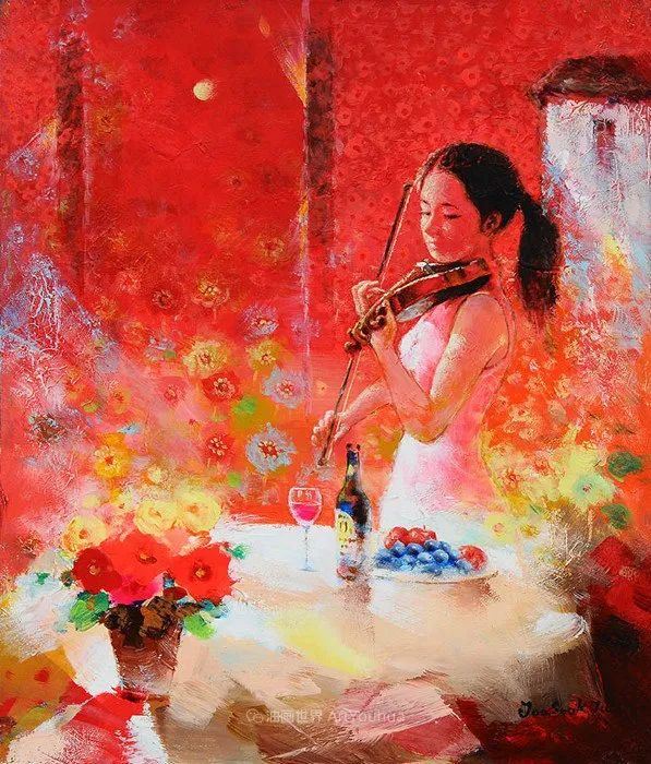 韩国画家 朱世柱 作品: 非常出色,温暖、音乐和神秘!插图3
