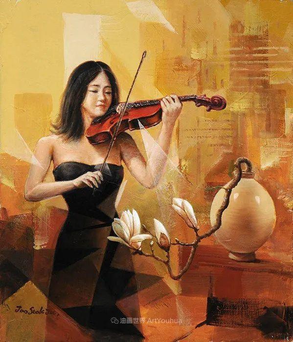 韩国画家 朱世柱 作品: 非常出色,温暖、音乐和神秘!插图7