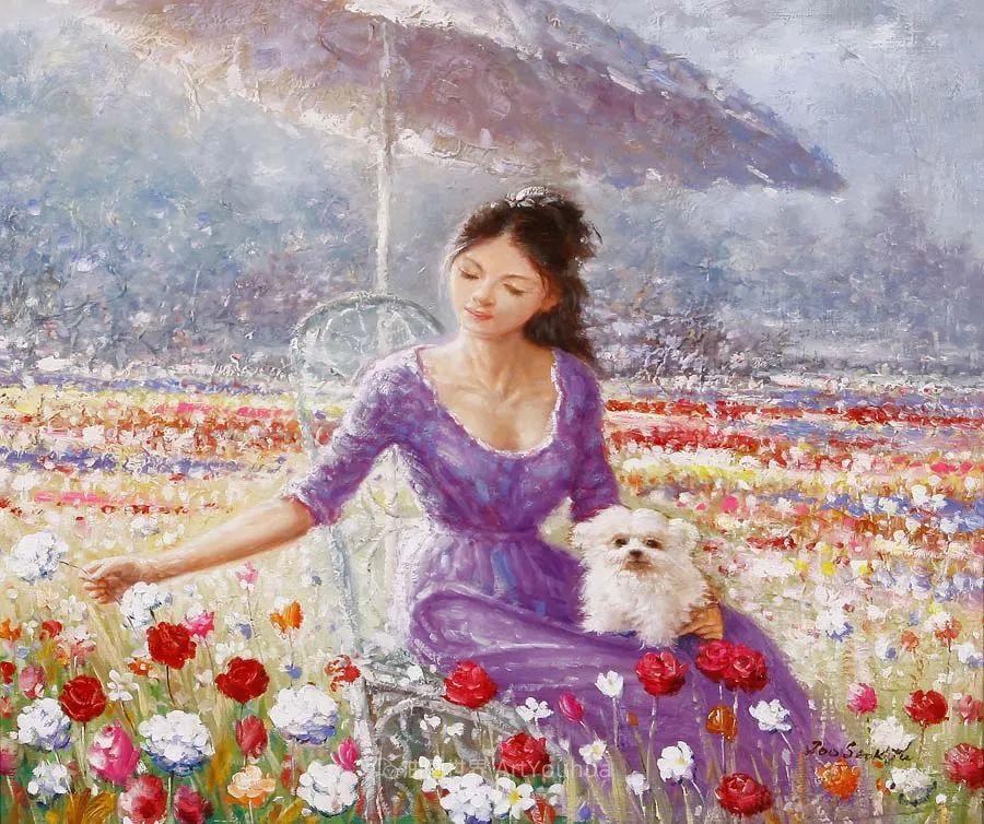 韩国画家 朱世柱 作品: 非常出色,温暖、音乐和神秘!插图15