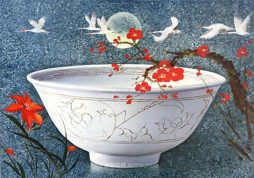 韩国画家 朱世柱 作品: 非常出色,温暖、音乐和神秘!插图43