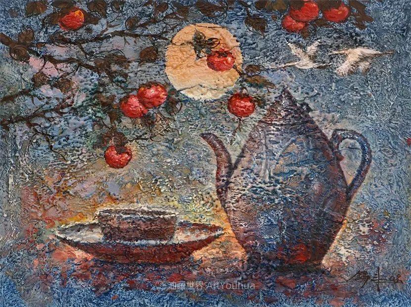 韩国画家 朱世柱 作品: 非常出色,温暖、音乐和神秘!插图47