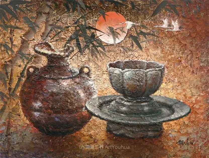 韩国画家 朱世柱 作品: 非常出色,温暖、音乐和神秘!插图49