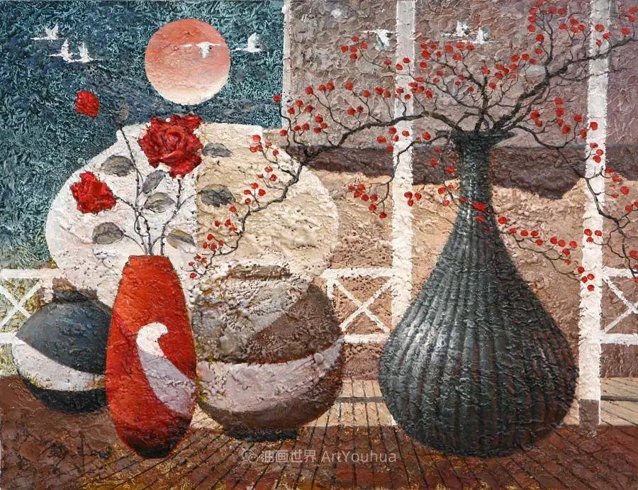 韩国画家 朱世柱 作品: 非常出色,温暖、音乐和神秘!插图53