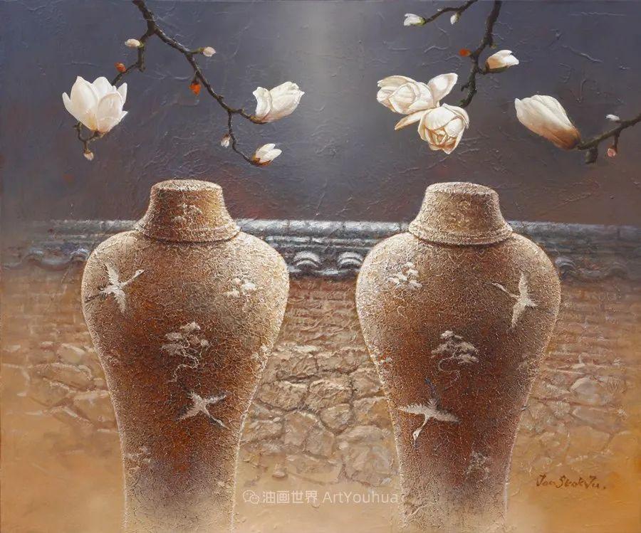 韩国画家 朱世柱 作品: 非常出色,温暖、音乐和神秘!插图57